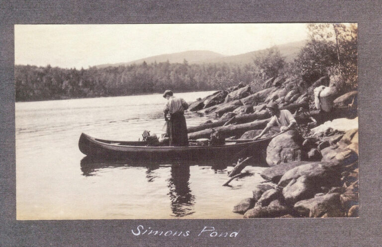Trip to the Fulton Chain with sister Nancy Apperson and Marc Hanna (1906)